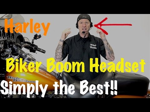 Harley Biker Boom Motorcycle Helmet Music & Communications Headset-Boom Box Integrated