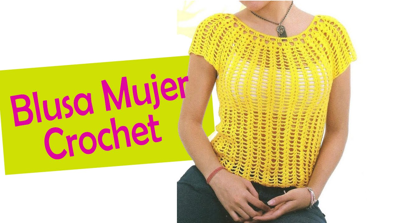 Blusa Para Mujer Tejidas A Crochet Youtube Free Crochet Pattern Crochet Skirts Free Crochet