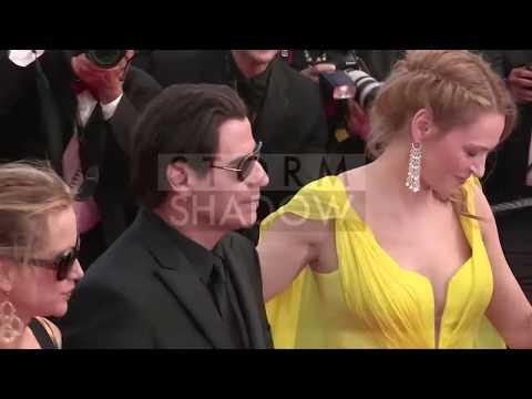 Cannes Film Festival 2014 - John Travolta, Uma Thurman and Quentin Tarantino celebrate Pulp Fiction