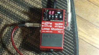 Boss RC-3 Loop Station Demo & Jam - Matt Stottmann - Electric Guitar