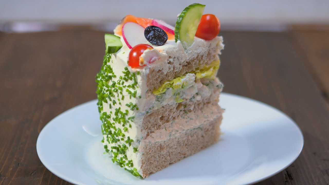 OUTRAGEOUS Sandwich Cake Recipe - YouTube