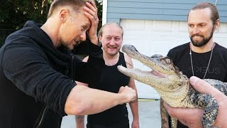 Download Video Alligator Bite Challenge! MP3 3GP MP4