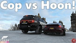 Forza Horizon 4: FHPD! 350Z Drift Car vs POLICE DODGE DURANGO | Multiplayer Police Chase!