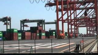 Close up view of vessel loading, Tokyo Harbor, Sefco Japan 3o (2010)