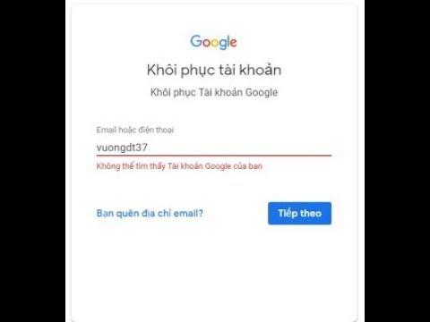 Cách Lấy Lại Tài Khoản GoogLe Bị Mất Nhanh Nhất