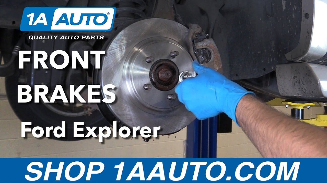 How To Replace Front Brakes 06 10 Ford Explorer Youtube