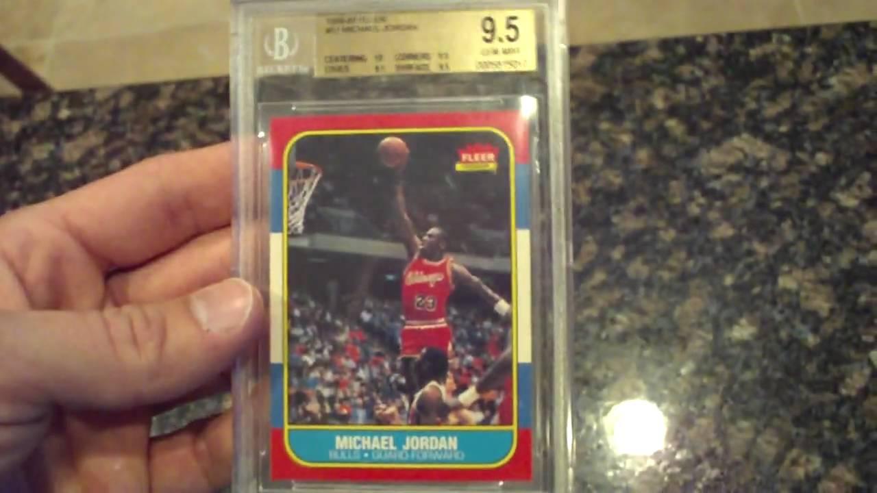 1986 1987 Fleer Michael Jordan Rc 57 Bgs 95 W10 Centering