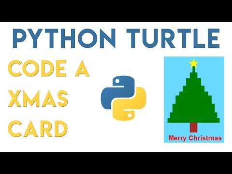 Python Turtle - Code a Christmas Card Tutorial thumbnail