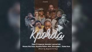 Edem - Kporda rmx ft. Magnom, JOEL, Fareed, KojoCue, Obibini, Akan, Strongman & more (Audio Slide)