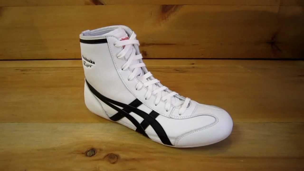 all white asics wrestling shoes