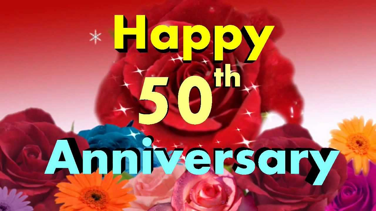 Happy Anniversary 50th Video Greeting Card
