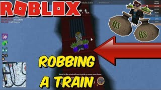 Robbing a train on Jailbreak feat. wi687 | ROBLOX
