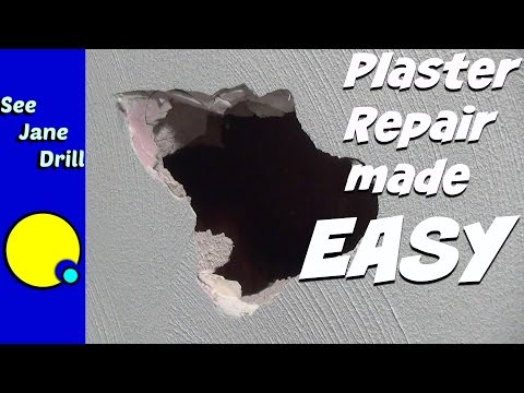 How to Repair a Hole in Plaster with Drywall