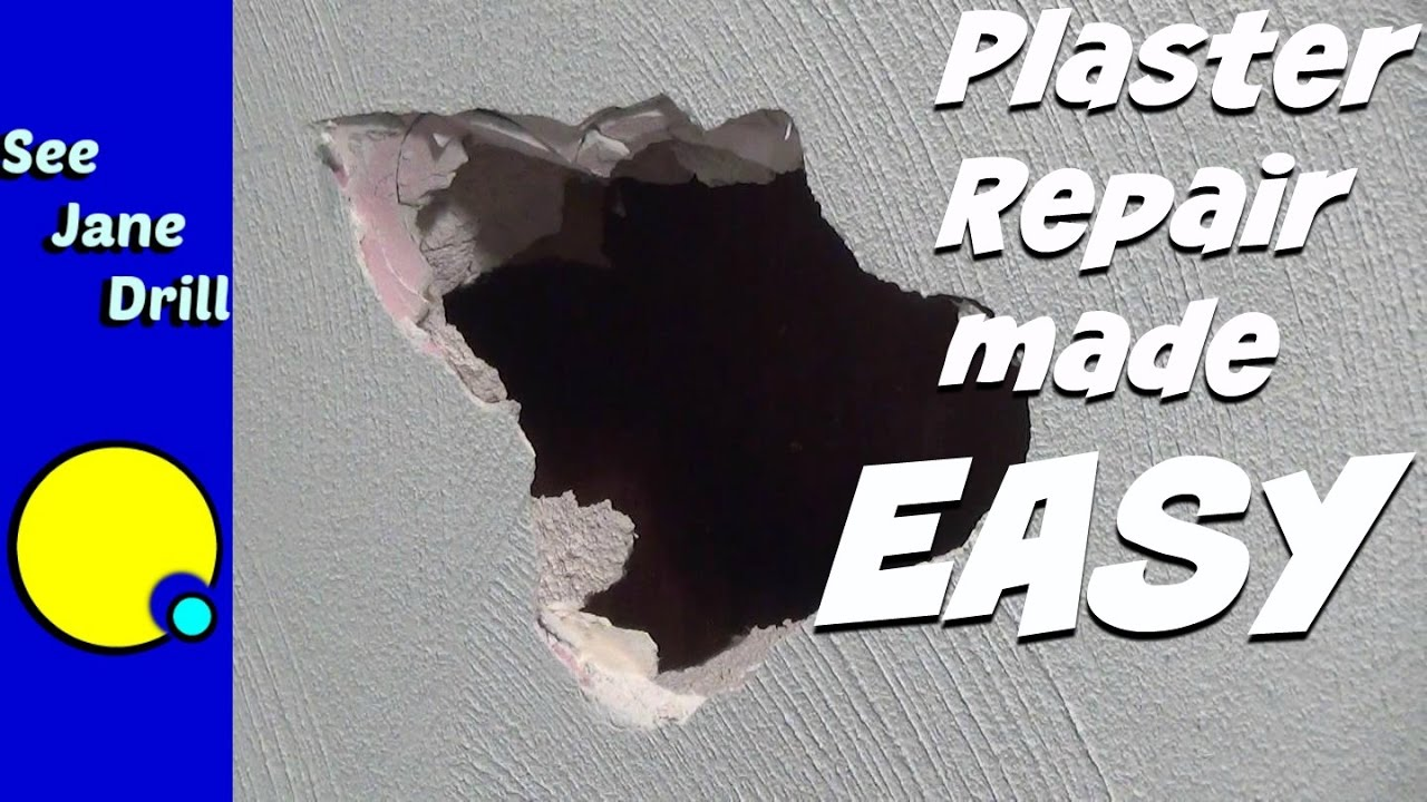 How To Repair A Hole In Plaster With Drywall You