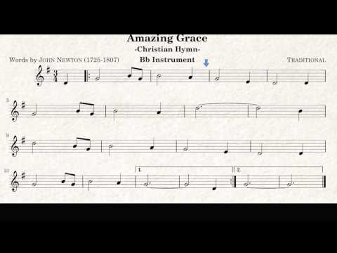 Amazing Grace - Trumpet and Tenor Sax play along sheet music