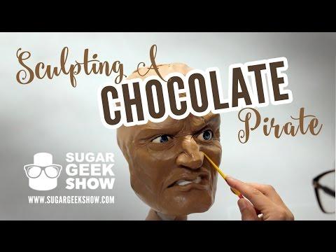 Sculpting Chocolate Pirate Face