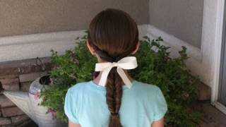 Double-Twist Ponytail | Daddy 'Do Hairstyles | Cute Girls Hairstyles