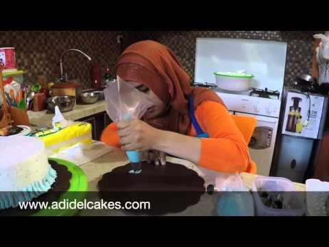 Cara Menghias Cake dengan er cream (Renda) - How to make ruffle ...