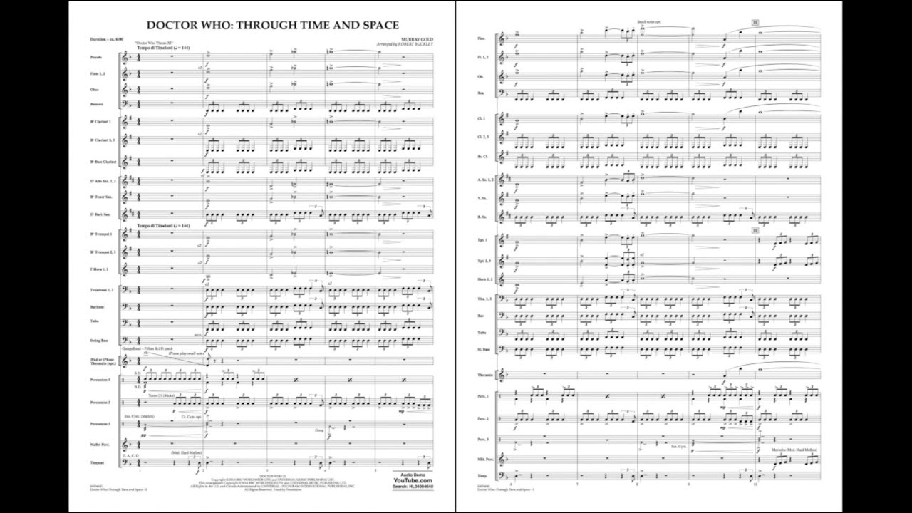 Doctor Who: Through Time and Space - Band Music Download