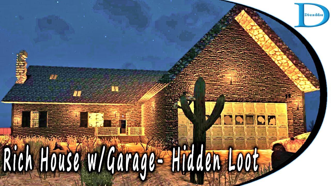 HL17 Rich House With Garage Hidden Loot 7 Days To Die Alpha