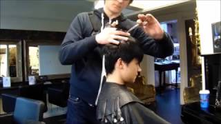SHORT GRADUATED PIXIE CUT BY CHRISTOPHER STEWART HAIRDRESSING full haircut  tutorial