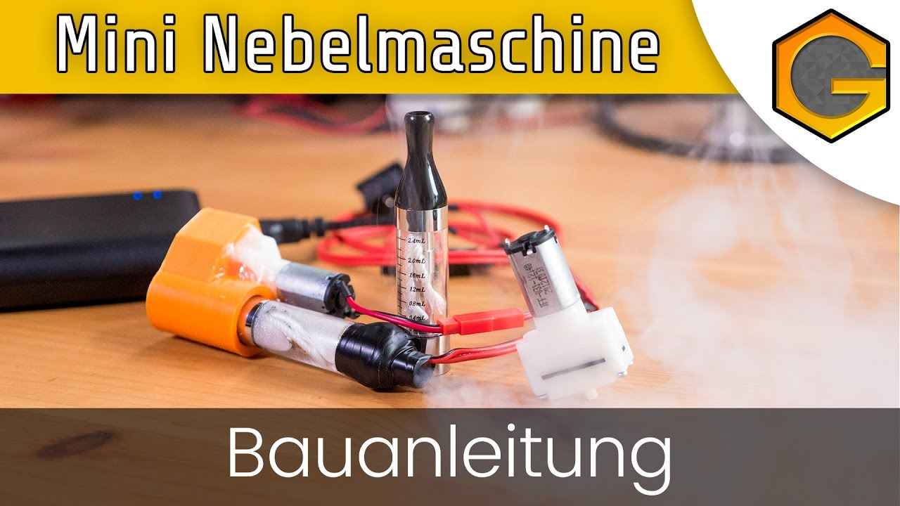 mini nebelmaschine - bauanleitung [german/deutsch] - youtube