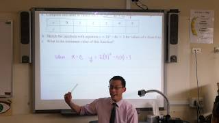 Parabolas (1 of 3: Plotting values & understanding the shape)