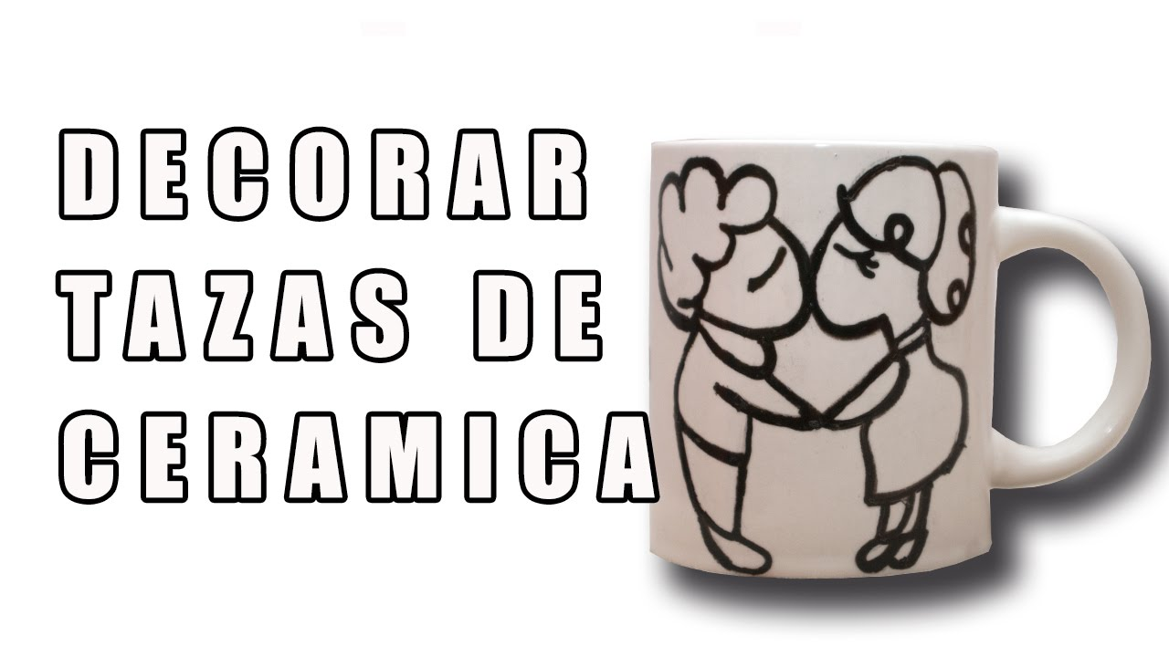 Como decorar tazas de ceramica youtube for Como revestir una pared con ceramica