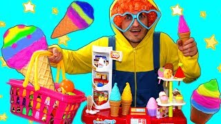Mania pretend play kids Grocery store with toys