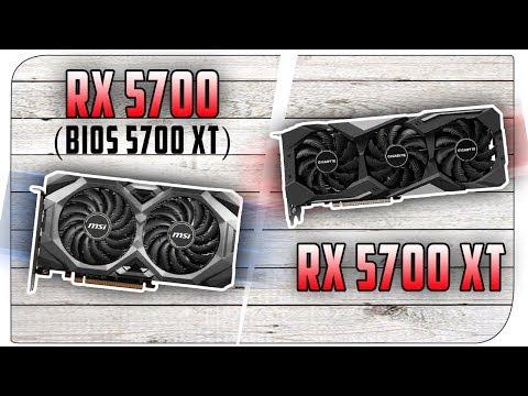 RX 5700 (bios 5700XT) vs RX 5700 XT