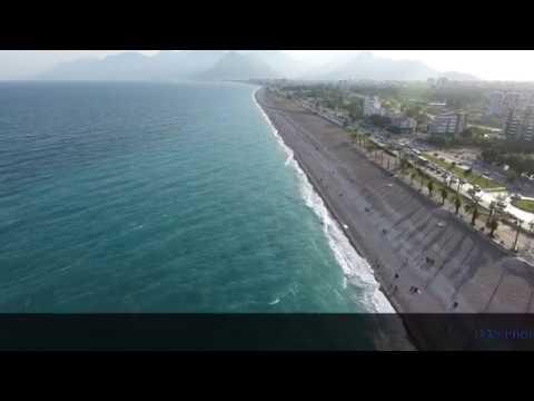 Konyaaltı Plajı -  Antalya Drone Çekimi 4K ( Konyaaltı Beach )