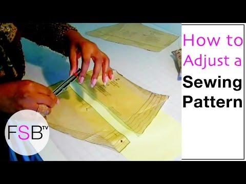 Shortening Patterns And Lengthening Patterns  Sewing
