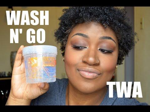 WASH N GO Using ECO STYLER GEL TWA YouTube