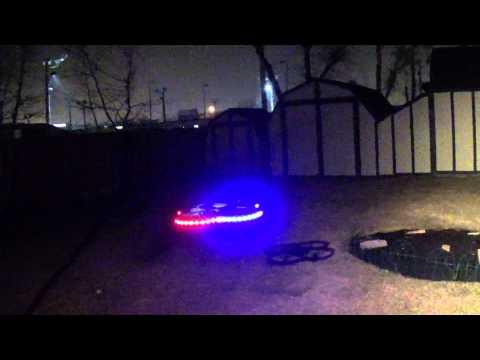 Flying my Hero XQ5 v626 ufo quadcopter at night