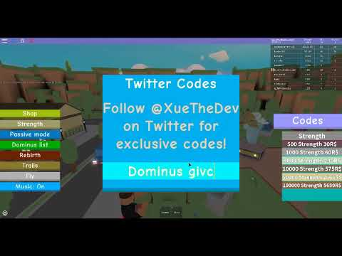 codes for roblox weight lifting simulator 3 list