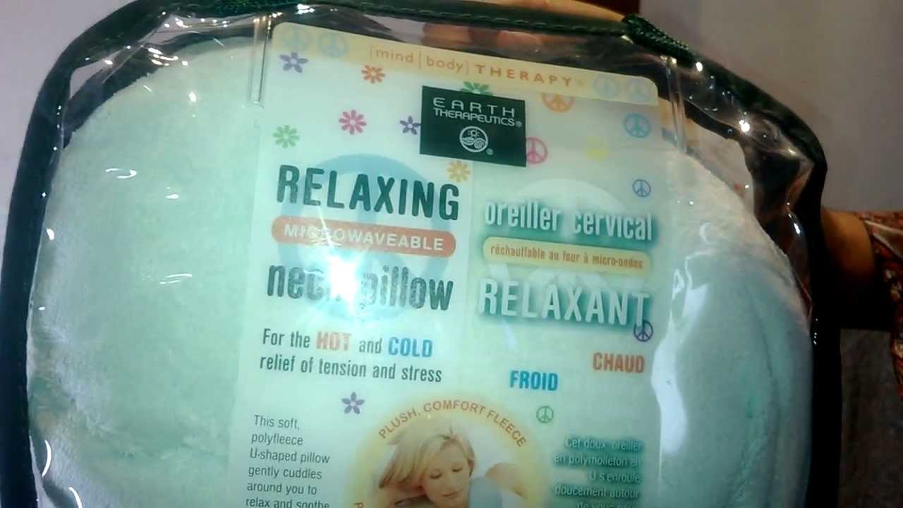 Myotc Review On Earth Theutics Stress Relaxing Microwaveable Neck Pillow 1 Ea