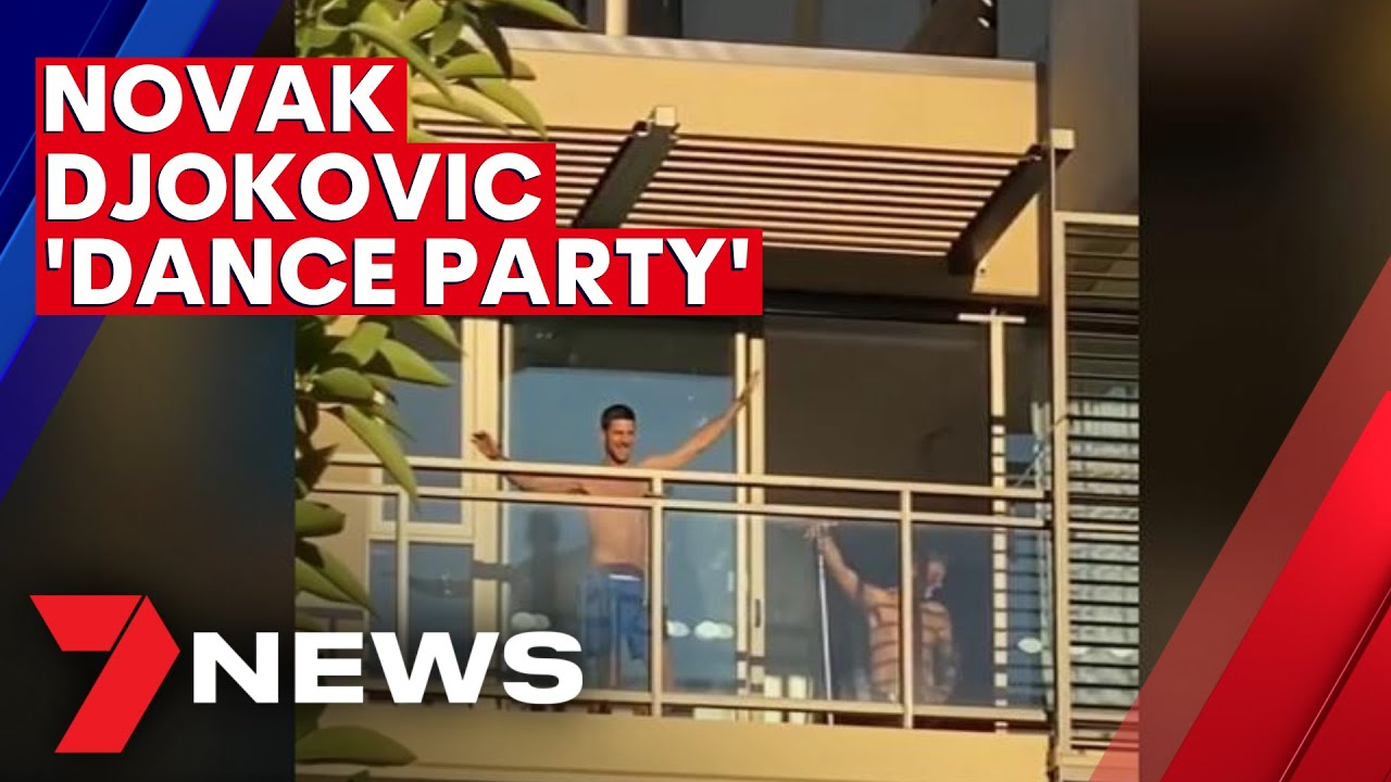 Australian Open: Novak Djokovic 'joins' Serbian dance party while quarantining in Adelaide