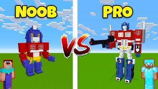 Minecraft NOOB vs. PRO: TRANSFORMERS in Minecraft! AVM SHORTS Animation
