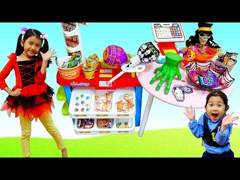 出張販売☆たくさんあるよ!ハロウィンのお菓子屋さん☆ドキドキごっこ遊び himawari-CH