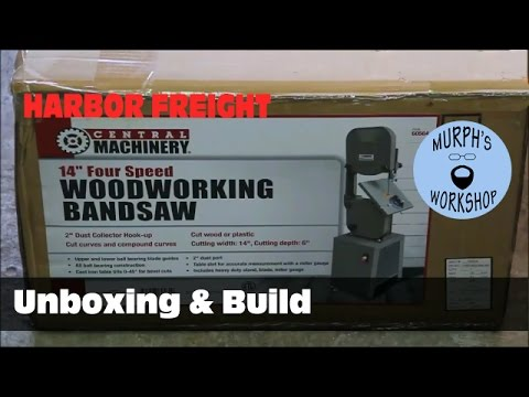"HF 14"" Bandsaw Unboxing & Build"