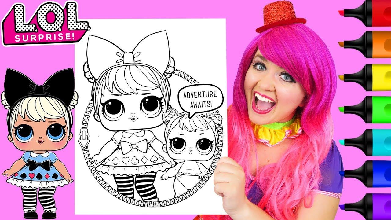 coloring lol surprise dolls curious qt coloring page