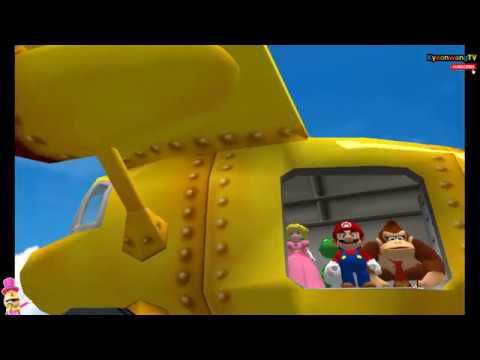 MARIO PARTY 4 (Mini Game Battle, #002 ) Player Mario vs Peach vs Dongkey Kong vs Yoshi