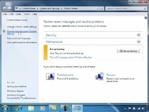 How To Turn Off The User Account Control (UAC) In Windows 7