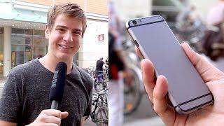 Reaktionen zum iPhone 6 Dummy! (Straßenumfrage) - felixba