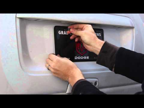How To Install License Plate Screw Caps