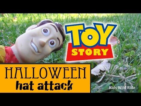 TOY STORY 4 Vs Halloween Terror Parody Video: Woody Toy Story Toys, Chewie, Star Wars Force Awakens