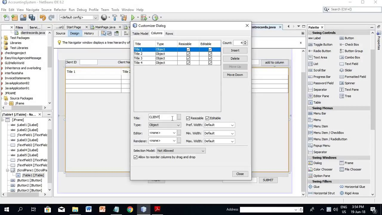 Accounting Software Java Application Gui Part 10 Youtube