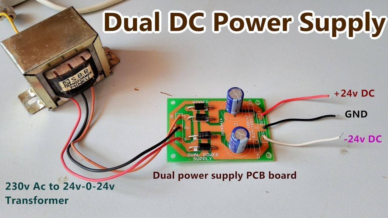 [DIAGRAM_5UK]  Dual DC Power Supply (+24v, GND, -24v) | AC to DC Rectifier PCB board |  POWER GEN - YouTube | Wiring 24v To Ac Dc |  | YouTube