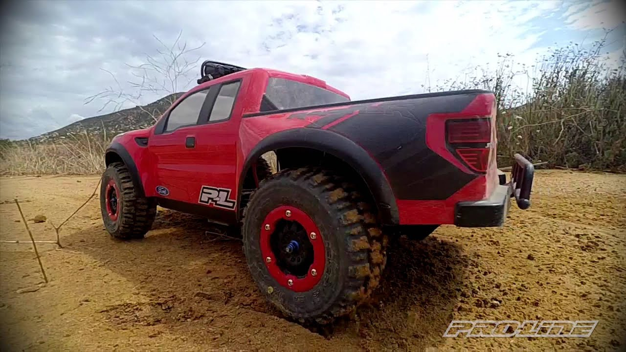 pro line ford f 150 raptor body with trencher x tires. Black Bedroom Furniture Sets. Home Design Ideas