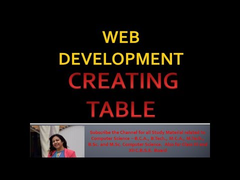 Creating Table In HTML | Using Table, TR, TH Tags | Web Site Development